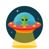 UFO, Unidentified flying object — Stock Vector