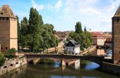 Ponts Couverts in Strasbourg Old Town, France, Alsace — Stock Photo