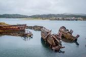 Barco abandonado — Foto Stock