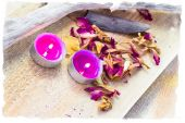 Elements spa relaxation wooden table — Foto de Stock