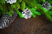 Christmas tree spruce pine wooden — Stock Photo