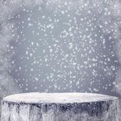 Vinter bakgrund grafik vinter snö frost projectsspace text — Stockfoto