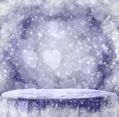 Winter background Graphics winter snow frost projectsspace text  — Stock Photo