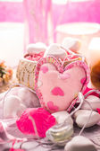 Spa composition Valentines Day heart love body health — 图库照片