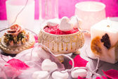 Spa composition Valentines Day heart love body health — Stock Photo