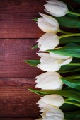 Art abstract background spring tulips wooden design — Stock Photo