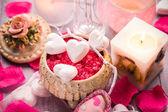 Composition de Spa Saint Valentin coeur amour santé du corps — Photo