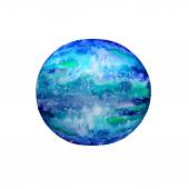 Watercolor blue ball — Vecteur