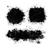 Set of ink blots — Stock Vector