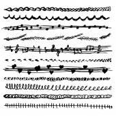 Simple drawing pen line set — Vector de stock