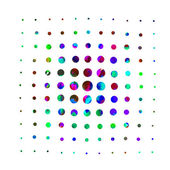 Watercolor circles abstraction — Stock Vector