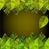 фон с зелеными листьями. — Cтоковый вектор