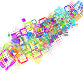 Abstract background of squares graphic — Stockvector