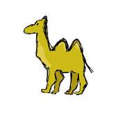 Hand drawn camel — Stock Vector