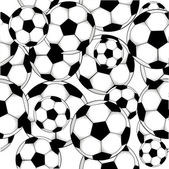 Soccer balls pattern — Cтоковый вектор