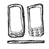 Hand drawn smartphones screens — Stock Vector