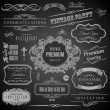 Retro Calligraphic design elements. Invitation frame. Collection of Frames and decorative vector elements — Stock Vector