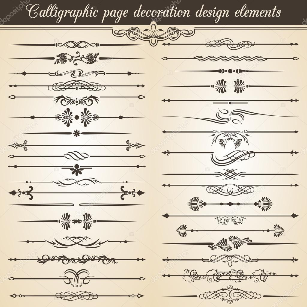 l ments de conception de d coration de page vintage calligraphique d coration de texte vecteur. Black Bedroom Furniture Sets. Home Design Ideas