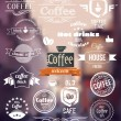 Coffee Logo. Old Town Stamp concept. Vector Retro coffee Badges and Labels — Stock Vector #59961379