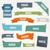 Ribbon and banner set — Stock Vector