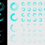Transparent Preloaders. Motion Round Loader — Stock Vector #82199036