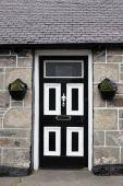 Front door, Scotland, UK — Stockfoto