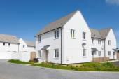 New english white houses — Stock Photo