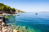 Sailing Croatia's Adriatic coast — Stock Photo