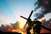 Christ carrying the cross — Stock Photo