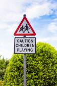 Children playing sign — Stock Photo