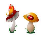 Two mushrooms. — Stock Vector