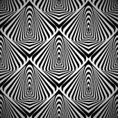Optical art seamless — Stock Vector