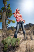 Meisje in rood — Stockfoto