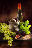 Grape and figs — Stock fotografie