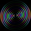 Colored circles on a black background — Stock Photo #75053559
