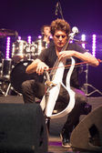 Bucharest, Romania- December 8: 2 Cellos, famous Croatian cello duo performs at Sala Palatuluih — Stock Photo