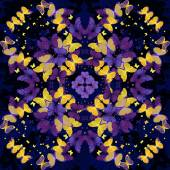 Butterflies. Seamless kaleidoscopic  pattern — Stock Photo