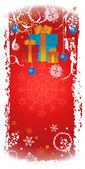 Vertical Christmas banner — Stock Photo
