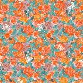 Teste padrão de flor sem emenda — Fotografia Stock