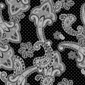Traditional ornamental seamless background. Paisley design — Stock Photo