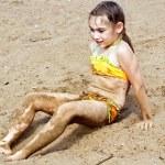 Girl on sand — Stock Photo #60635275