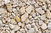 Crushed sandstone on road — Stock Photo