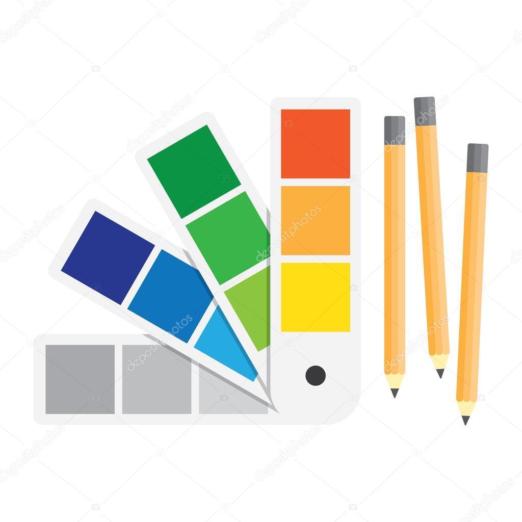 Book color palette - Color Swatches Book Color Palette Guide Flat Vector Illustration Vector By Makc76