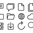 Sketched internet icons vector — Stock Vector #53391281