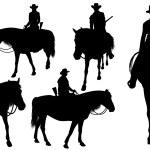 Cowboy on horse — Stock Vector #58784761