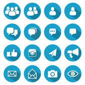 Blog and Social Media icons — Stock Vector