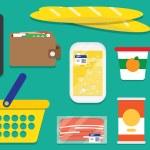 Set supermarket vector icons — Stock Vector #70286195