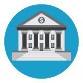 银行大楼 — 图库矢量图片