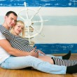 Happy family expecting the second child — Stock Photo #65437221