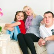 Happy family expecting the second child — Stock Photo #65457567